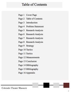 graduate level research paper